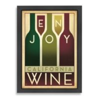 Americanflat Enjoy California Wine Framed Wall Art