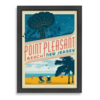 Americanflat Point Pleasant, New Jersey Framed Wall Art