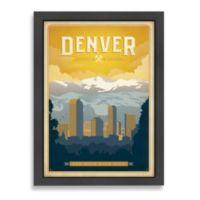 Americanflat World Travel Denver Framed Wall Art