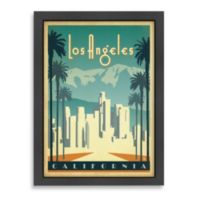 Americanflat Los Angeles California Framed Wall Art