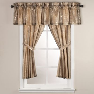 sheer bliss 15inch x 72inch window curtain valance