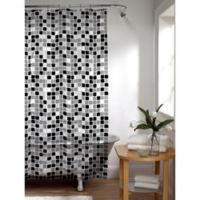 Tiles Shower Curtain in Black/White