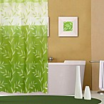 Green Leaves Pattern 72-Inch x 70-Inch PEVA Shower Curtain
