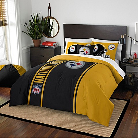 Nfl Pittsburgh Steelers Embroidered Comforter Set Bed