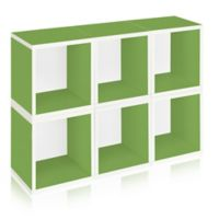 Way Basics® Storage Cubes and Bookcase in Green (Set of 6)