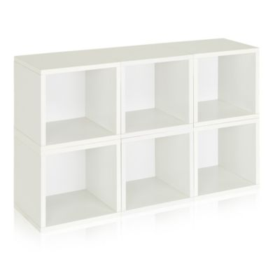 Way Basics® Storage Cubes And Bookcase In White (Set Of 6)