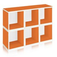 Way Basics® Storage Cubes and Bookcase in Orange (Set of 6)