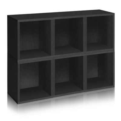 Nice Way Basics® Storage Cubes Plus And Bookcase In Black (Set Of 6)