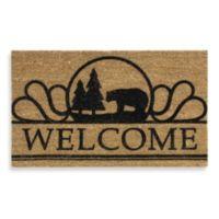 Wilderness Bear Welcome Home Door Mat