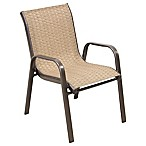 Kids Stacking Patio Chair in Brown