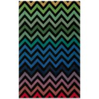 Momeni Delhi 5-Foot x 8-Foot Wool Rug in Black/Chevron