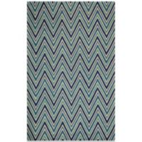 Momeni Delhi 5-Foot x 8-Foot Wool Rug in Blue