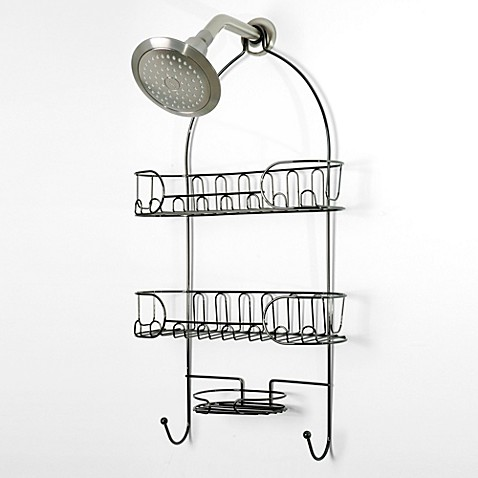 Semi Circle Shower Caddy in Black Nickel - Bed Bath & Beyond