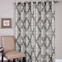 Medina Grommet 84-Inch Window Curtain Panel in Grey
