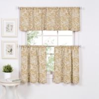 Flora 36-Inch Window Curtain Tier Pair in Linen