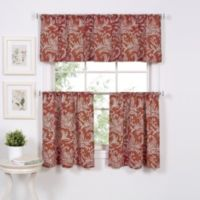 Flora 36-Inch Window Curtain Tier Pair in Spice