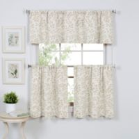 Serene 24-Inch Window Curtain Tier Pair in Linen