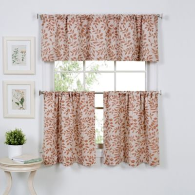 Serene 36 Inch Window Curtain Tier Pair In Spice