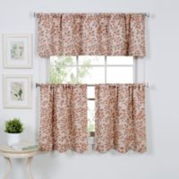 Serene 36-Inch Window Curtain Tier Pair in Spice