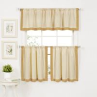Wilton 24-Inch Window Curtain Tier Pair in Gold