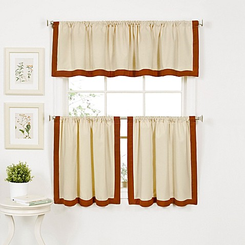 Buy Wilton 36 Inch Window Curtain Tier Pair In Spice From Bed Bath Beyond