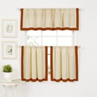 Wilton Window Curtain Valance in Spice