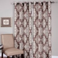 Medina Grommet 84-Inch Window Curtain Panel in Taupe