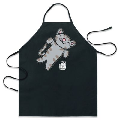 icup big bang theory soft kitty apron in black - Cooking Aprons