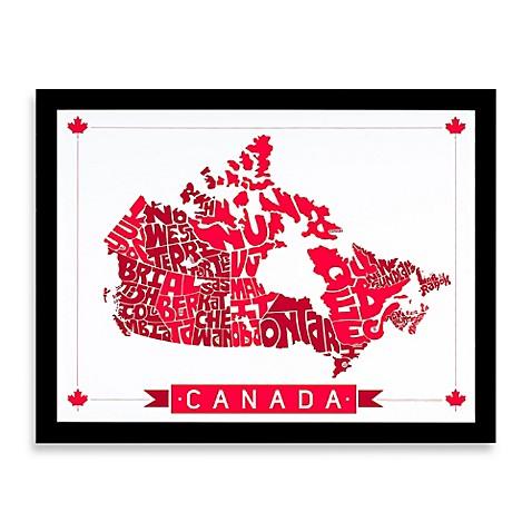 Canada Map Framed Wall Art Bed Bath Amp Beyond