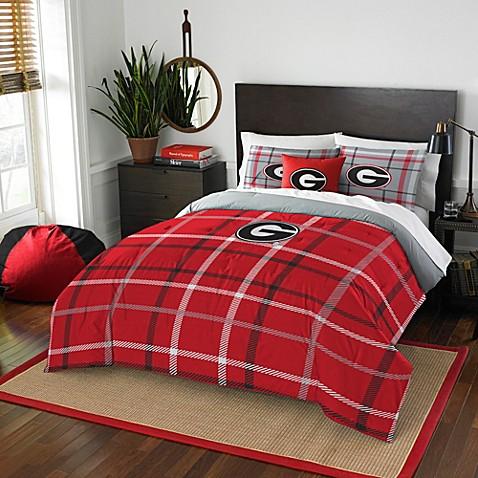 University Of Georgia Embroidered Comforter Set Bed Bath