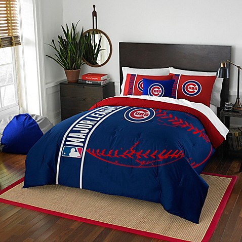 Mlb Chicago Cubs Embroidered Comforter Set Bed Bath Amp Beyond