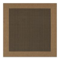 Couristan® Checkered Field 7-Foot 6-Inch x 7-Foot 6-Inch Square Rug in Black/Cocoa