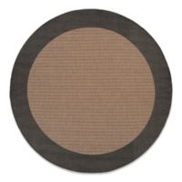 Couristan® 7-Foot 6-Inch Round Checkered Field Rug in Cocoa/Black
