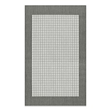 Couristan 174 Checkered Field Rug In Grey White Bed Bath