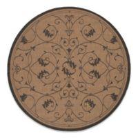 Couristan® Veranda 7-Foot 6-Inch Round Indoor/Outdoor Rug in Cocoa/Black