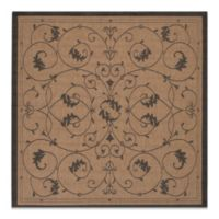 Couristan® Veranda 7-Foot 6-Inch Square Indoor/Outdoor Rug in Cocoa/Black