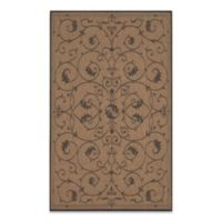Couristan® Veranda 8-Foot 6-Inch x 13-Foot Indoor/Outdoor Rug in Cocoa/Black