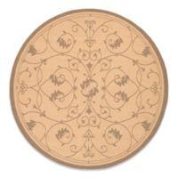 Couristan® Veranda 7-Foot 6-Inch Round Indoor/Outdoor Rug in Natural/Cocoa