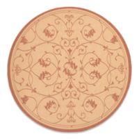 Couristan® Veranda 7-Foot 6-Inch Round Indoor/Outdoor Rug in Natural/Terracotta
