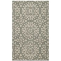 Momeni Suzani 5-Foot x 8-Foot Hook Rug in Grey
