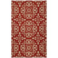 Momeni Suzani 3-Foot 6-Inch x 5-Foot 7-Inch Hook Rug in Red