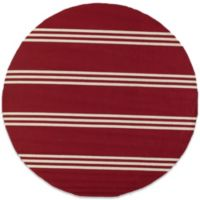 Momeni Veranda 9-Foot Round Rug in Red