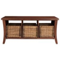 Crosley Wallis Entryway Storage Bench in Mahogany