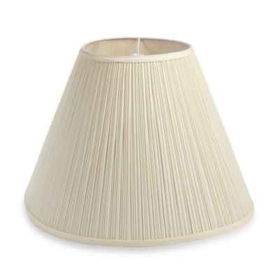 Mix & Match Large 18-Inch Pleated Hardback Lamp Shade in Mushroom