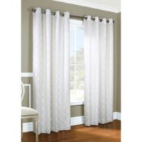 Commonwealth Home Fashions Thermalogic® Anna ThermaLace Grommet 84-Inch Window Panel in White
