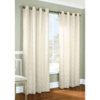 Commonwealth Home Fashions Thermalogic Anna Thermalace Grommet 84 Inch Window Panel In Ivory