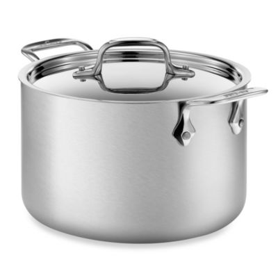 allclad d5 brushed stainless steel 4quart covered soup pot