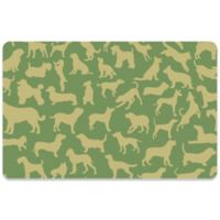 Bungalow Flooring 18-Inch x 27-Inch Dogs at Play Kitchen Mat in Green