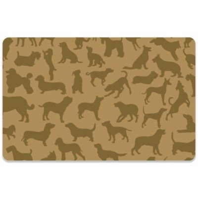 Bungalow Flooring 18 Inch X 27 Inch Dogs At Play Kitchen Mat In Brown