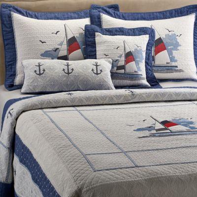 buy coastal bedding quilts from bed bath beyond. Black Bedroom Furniture Sets. Home Design Ideas
